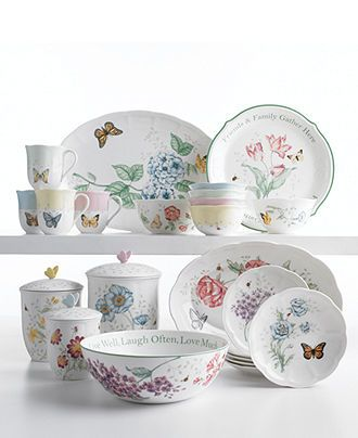 Lenox Serveware Butterfly Meadow Collection - Dinnerware - Dining u0026 Entertaining - Macyu0027s  sc 1 st  Pinterest & Lenox Serveware Butterfly Meadow Collection | Casual dinnerware ...