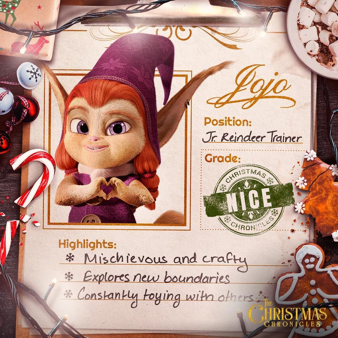 The Christmas Chronicles Poster.Meet Jojo The Christmas Trickster Of The North Pole The