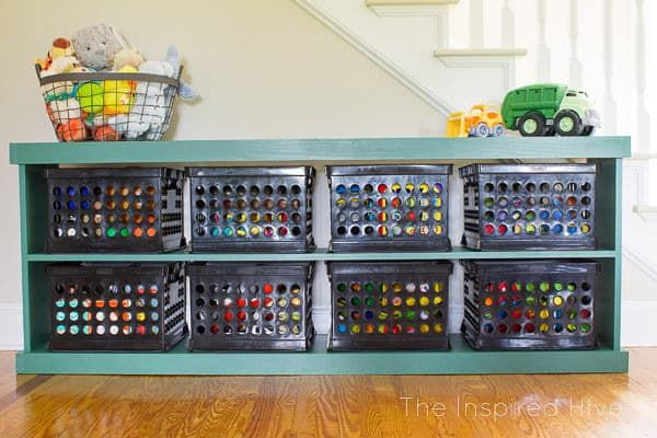 21 Creative Diy Toy Storage Ideas You Need To See Anika S Diy Life Toy Storage Solutions Toy Storage Shelves Toy Organization Diy