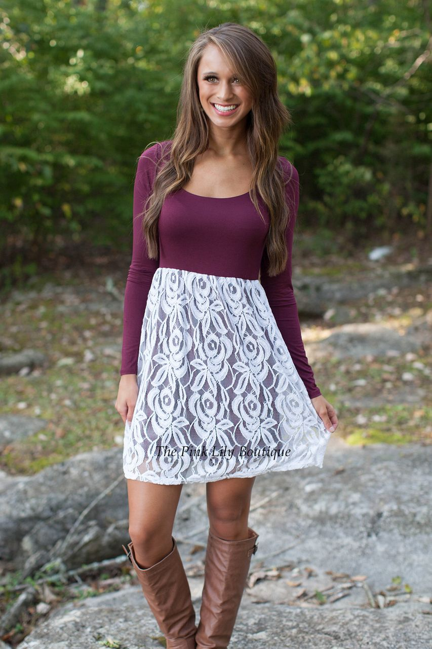e33040b34c The Pink Lily Boutique - Come Away With Me Mini Dress Burgundy
