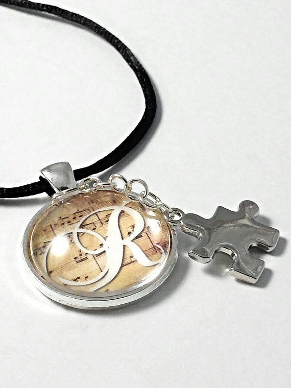 Personalized Autism music note necklace httpswwwetsycom
