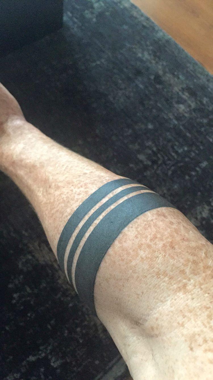Minimalist tattoo forearm men black band Arm tattoos for
