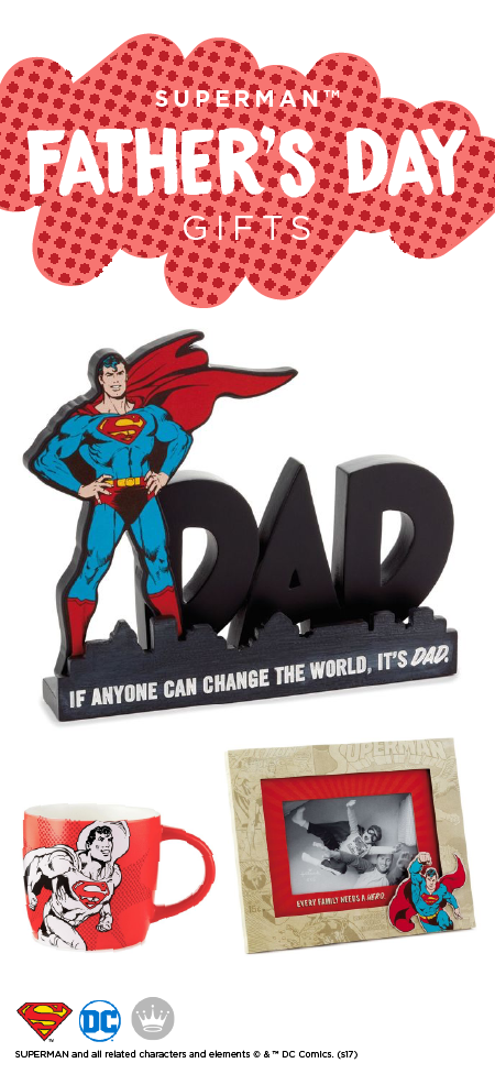 Dads Are Already Superheroes So This Father S Day Give Them A Gift That Showcases All They Do With These Superman Gifts From Hallmark