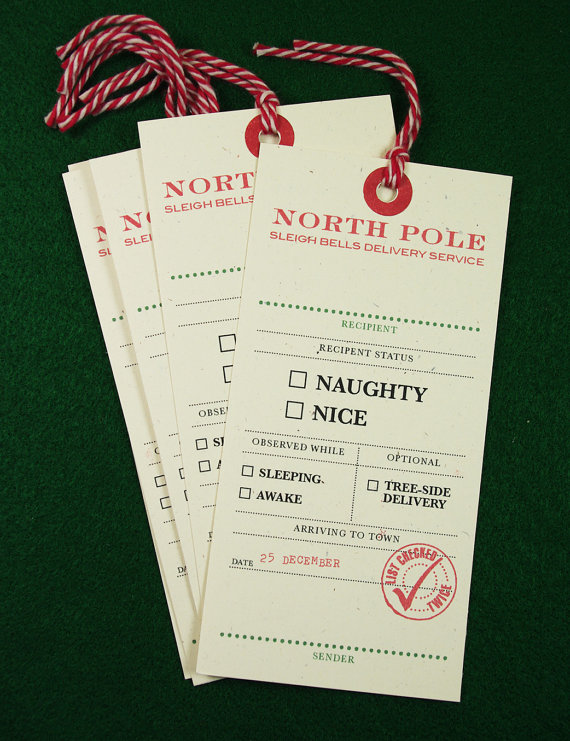 let your gift recipient know if theyve been naughty or nice by