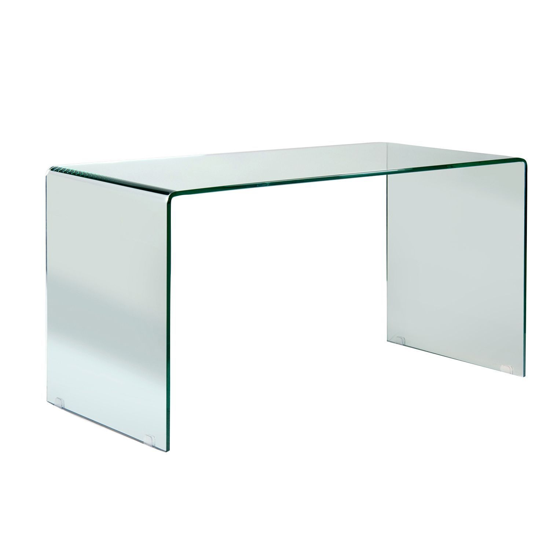 Escritorio de cristal templado moldeado de 12 mm en una - Mesas cristal templado ...
