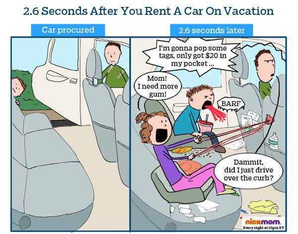 This is the uh, stickiest, reason families should get rental car insurance.