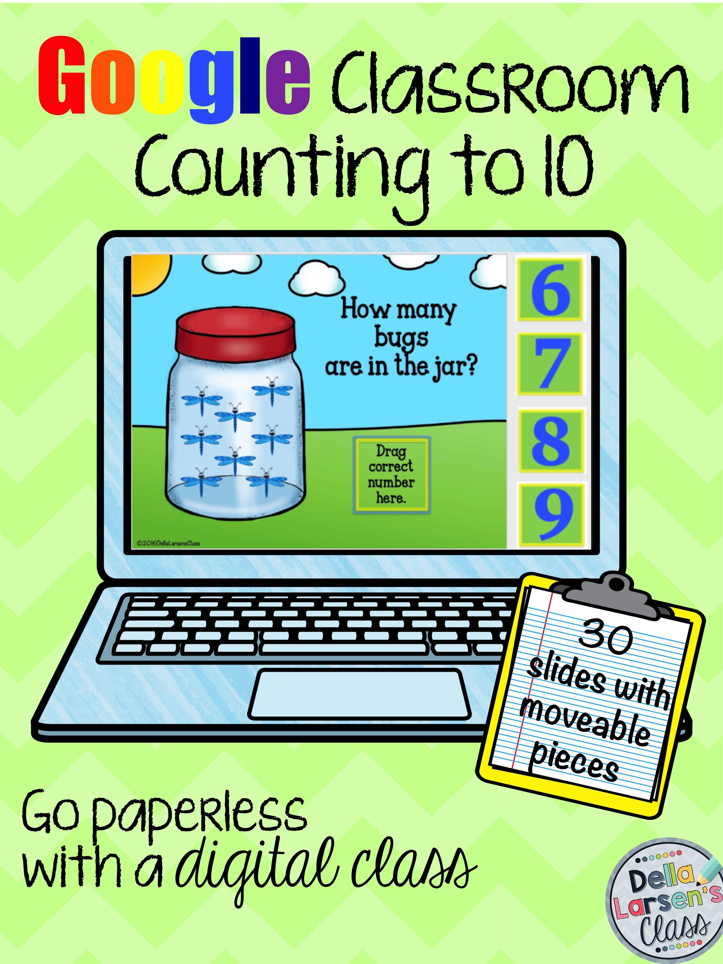 Google Classroom Counting to 10   Della Larsen\'s Class   Pinterest ...