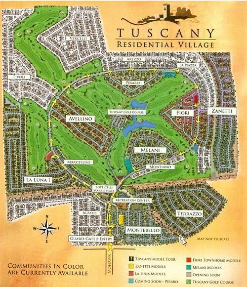Map of Tuscany wwwfindinghomesinlasvegascom Keller Williams Las