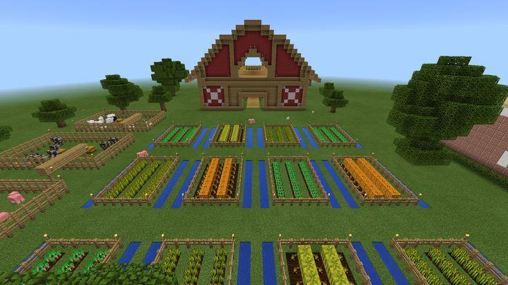 Minecraft Red Barn Fence Farm Barn Farm Fence Minecraft Red Barn Far Minecraft Farm Minecraft Garden Minecraft Tutorial