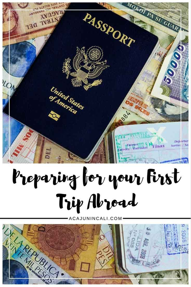 find out what to do before going abroad for the first time