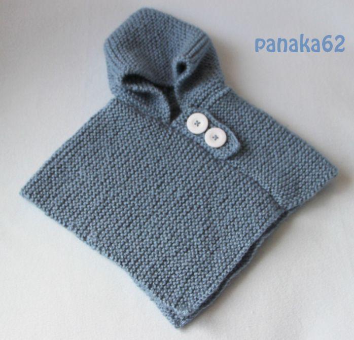 modele poncho tricot gratuit bebe