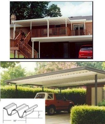 Wall Attached Patio Cover Kits   Aluminum Carport U0026 Patio Cover Kit | ABC  Home Center