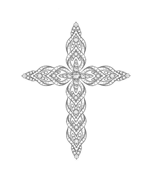 Jewelry Sketch Jewellery Sketches Symbolic Jewelry Cross Jewelry