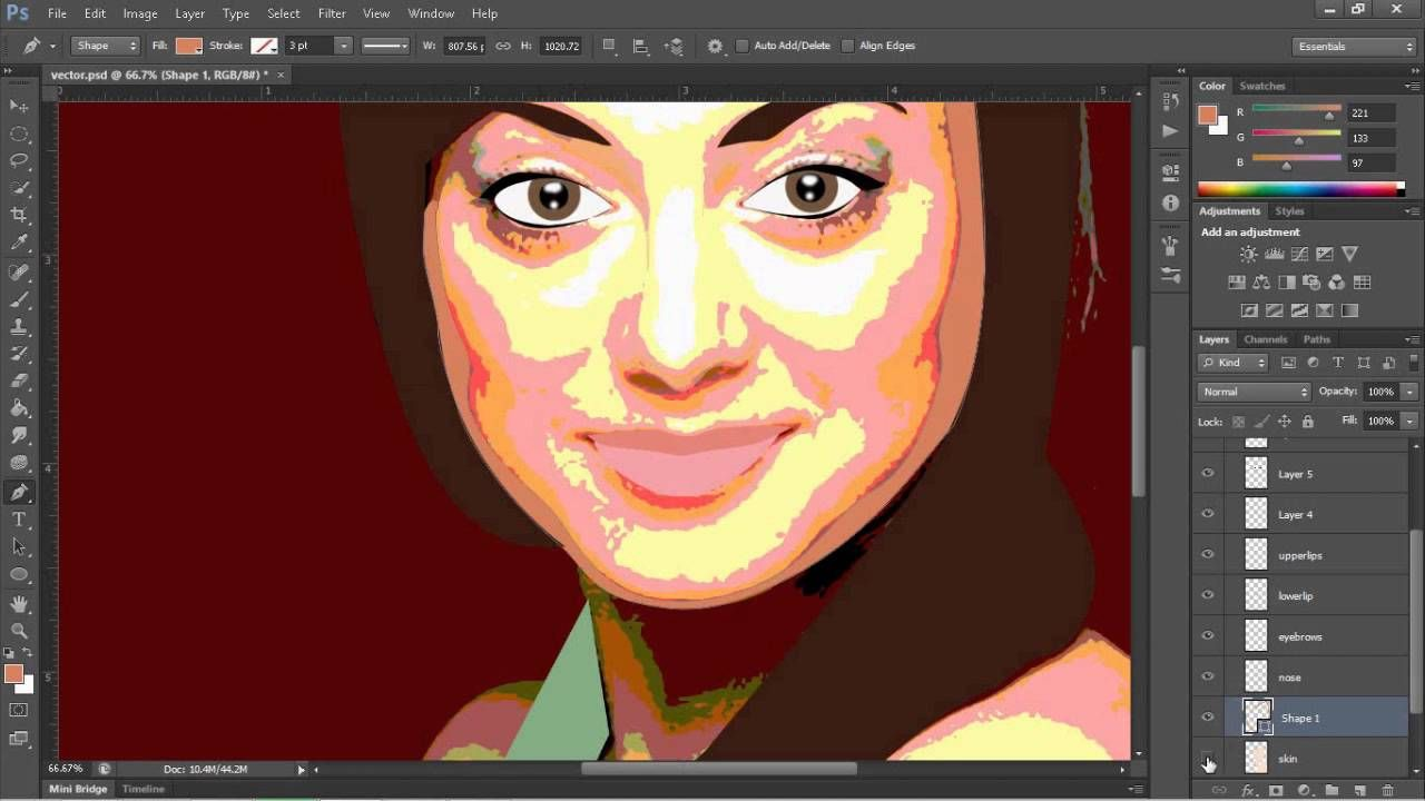 Simple vector portrait tutorial adobe photoshop cs6 draw simple vector portrait tutorial adobe photoshop cs6 baditri Choice Image