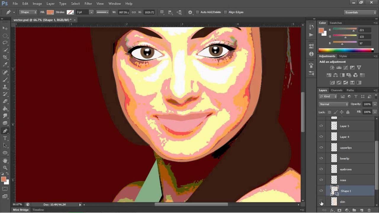 Simple vector portrait tutorial adobe photoshop cs6 draw simple vector portrait tutorial adobe photoshop cs6 baditri Choice Image