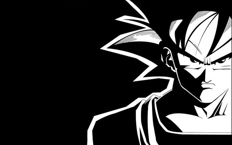 Goku black & white Abstract art projects, Goku black