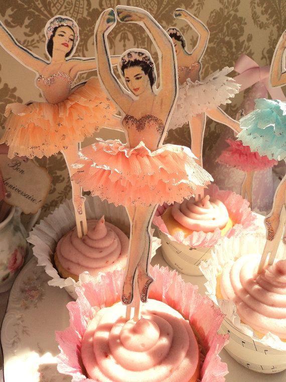 ♥ cupcakes ♥ toppers ♥ ballerinas ♥