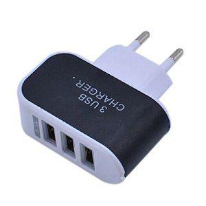 3 port Eu Plu Chargeur Alimentation USB Adaptateur secteur voyage pour iPhone 5 6 iPod Touch Galaxy S6 Noir