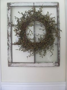 Old Window With Wreath