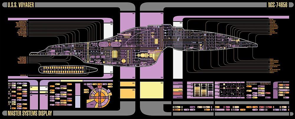 [DVZP_7254]   Intrepid Class USS Voyager Highly Detailed Schematic by Bmused55 |  Starfleet ships, Star trek, Starship | Voyager Schematics |  | Pinterest