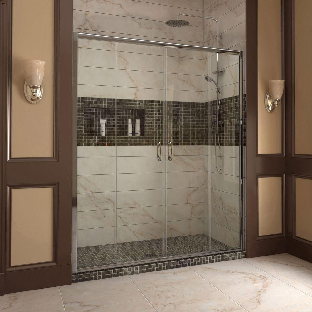 framed sliding shower doors. DreamLine Visions 56 In. To 60 X 72 Semi-Framed Sliding Shower Door In Chrome-SHDR-1160726-01 - The Home Depot Framed Doors T