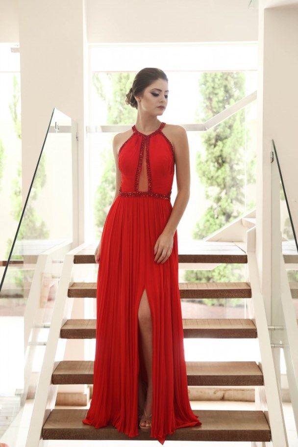 Vestidos de festa longo vermelho