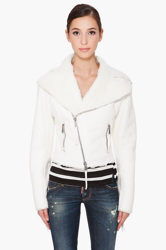 1000  images about white leather jacket on Pinterest | Blue skinny