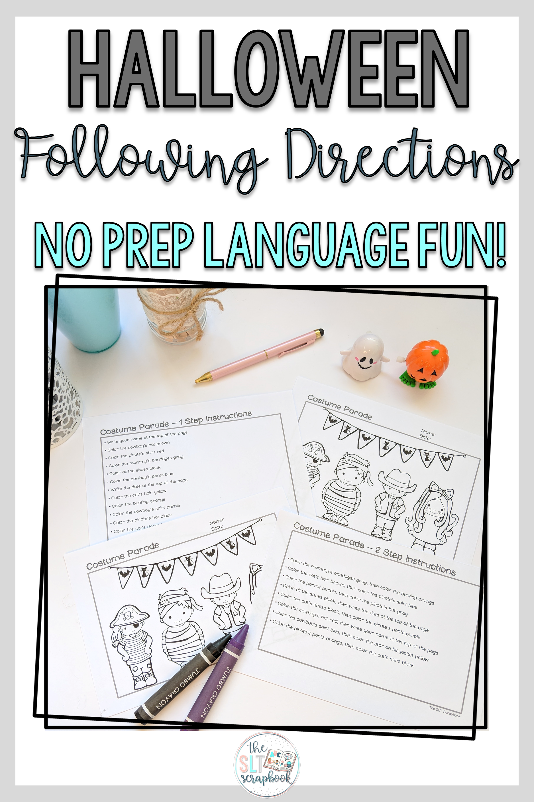 Following Directions Coloring Pack Halloween Themed 1 2