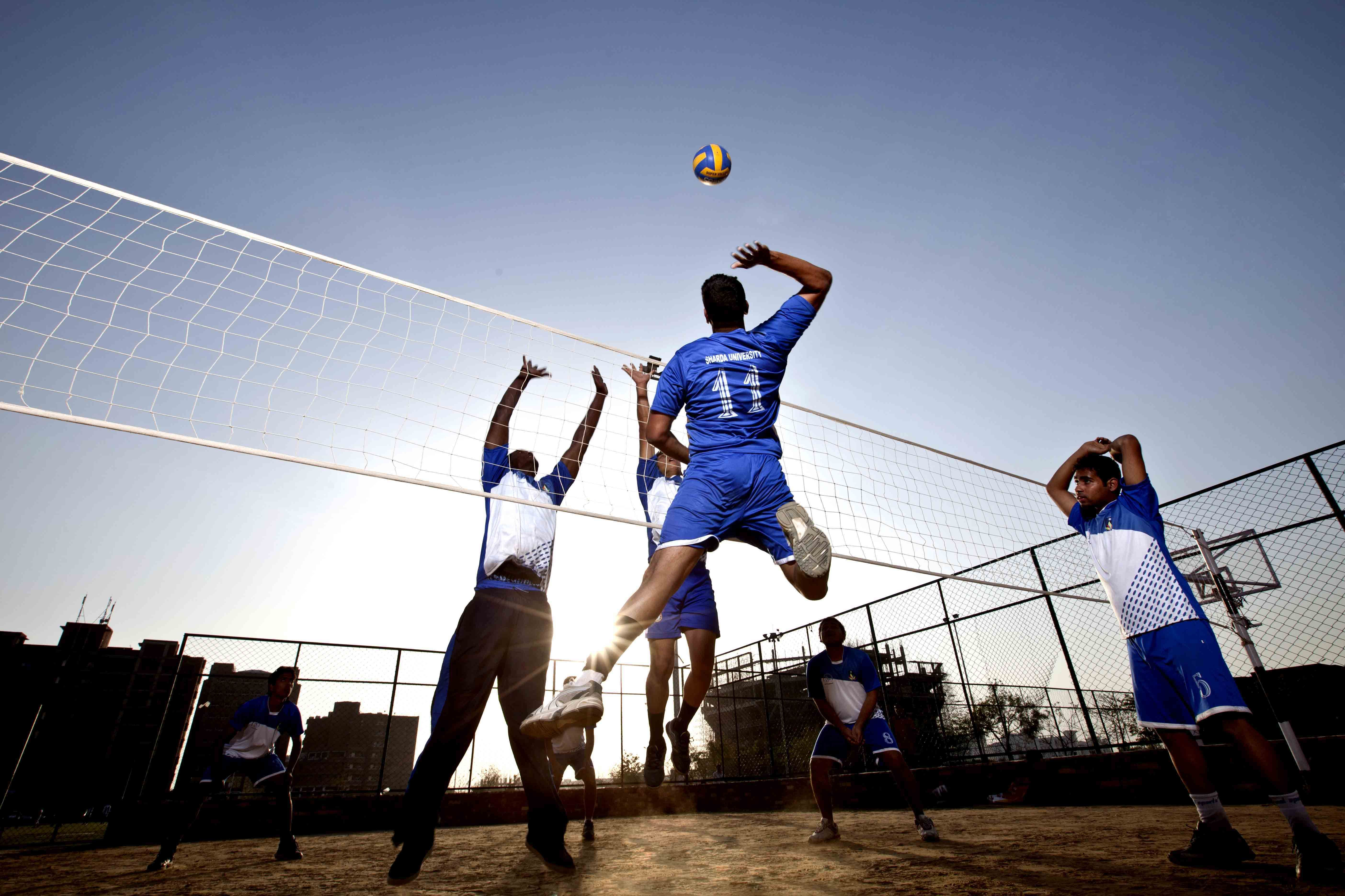 Shardans In Action While Playing Volley Ball Sports Sports Activities Volley