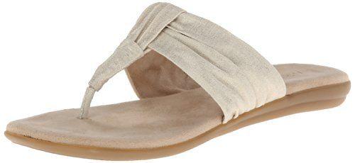 Aerosoles Women's Chlairvoyant Flip Flop,Gold Fabric,7.5 M US Aerosoles  http:/