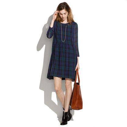eaa4b4376a3 Etude Dress in Dark Plaid - dresses   skirts - Women s NEW ARRIVALS -  Madewell