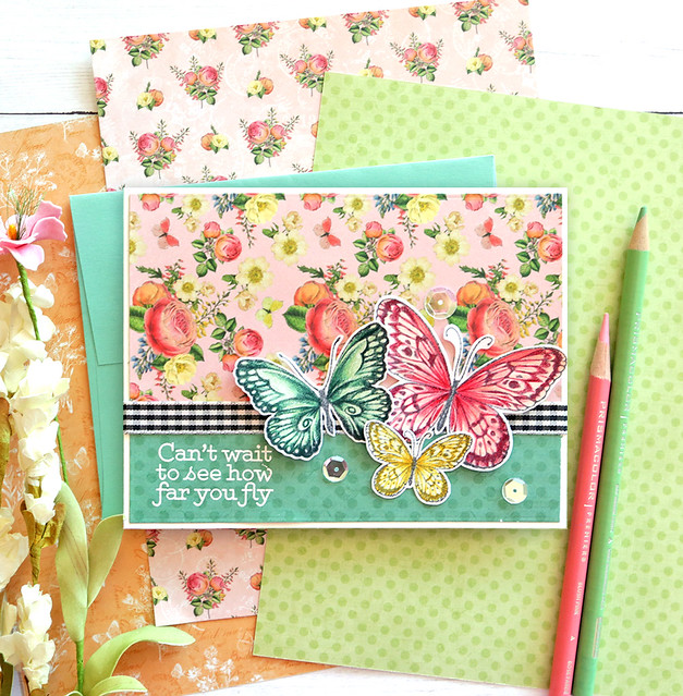 One Stamp, Five Ways - SSS May 2020 Card Kit BEAUTIFUL BUTTERFLIES