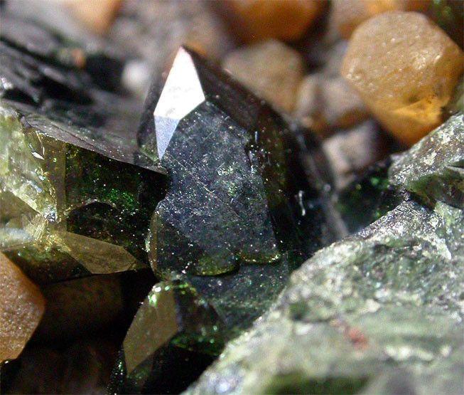 Kulanite,  Ba(Fe++,Mn,Mg)2Al2(PO4)3(OH)3, Big Fish River, Yukon Territory, Canada.  Crystal size: 1,2 cm.  Copyright: Peter Haas