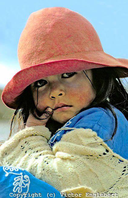 Peru. Pampa Cangallo, Near Ayacucho. Little Morochuco mestiza.