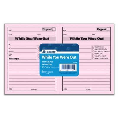 Adams Business Forms While You Were Out Pad (Set of 12)