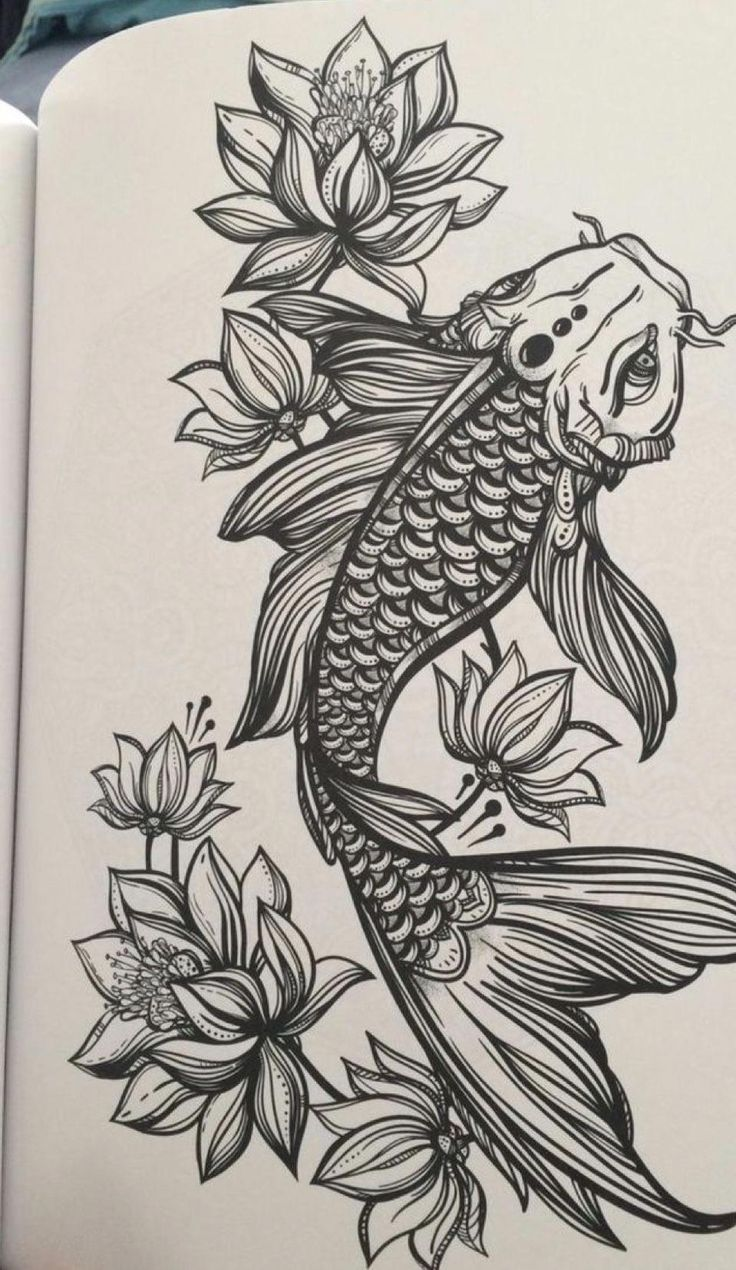 Japanese Tattoos Fish Japanese Tattoos Japanische Tatowierungsfische Tatouages Japonai En 2020 Pez Koi Dibujo Simbolos De Tatuaje Japoneses Tatuajes Originales