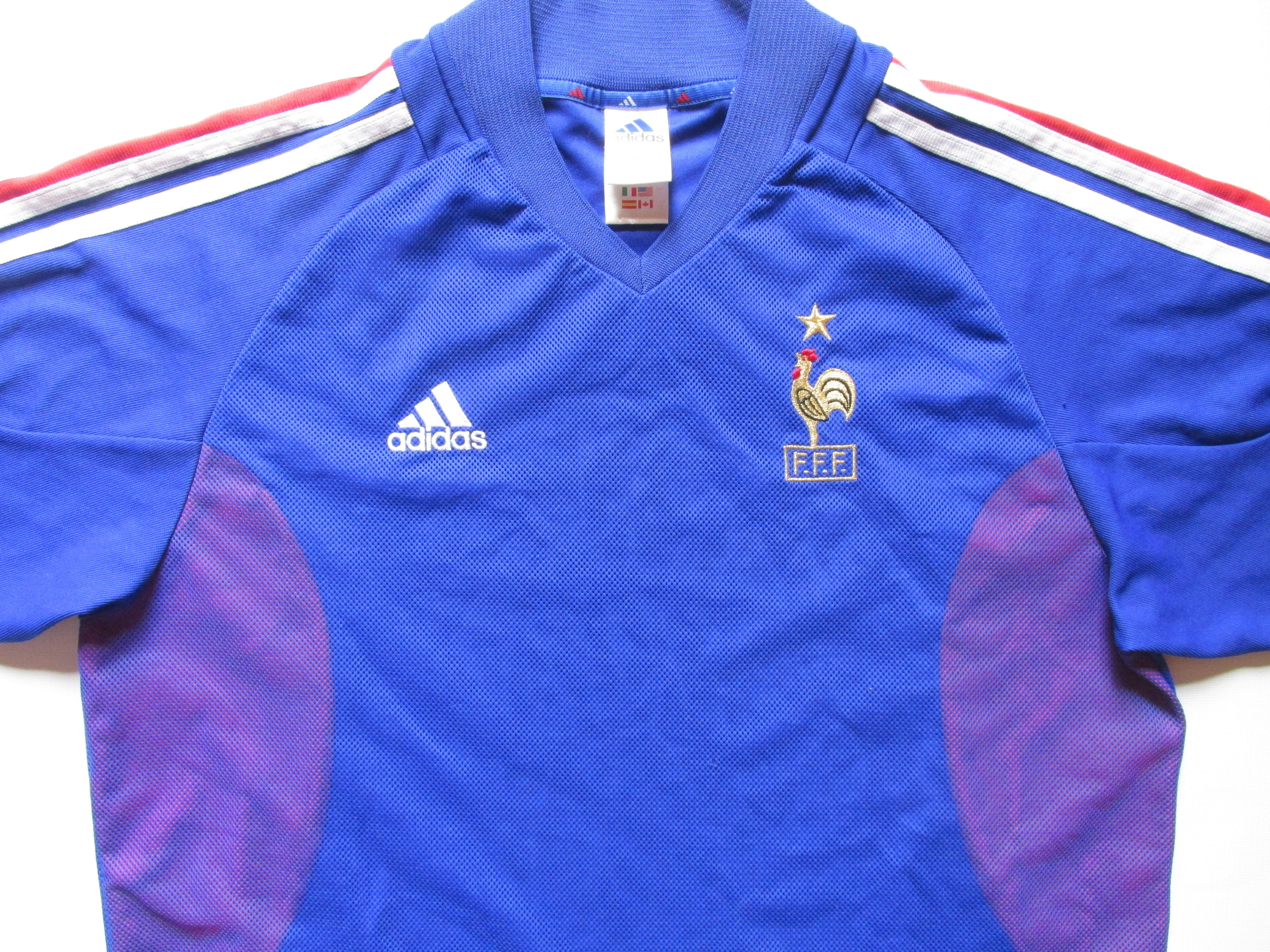 France 2002 2003 2004 home football shirt by Adidas maillot FFF WorldCup  vintage soccer jersey  france  FFF  adidas  worldcup  jersey  soccer   football   ... 74204bea8