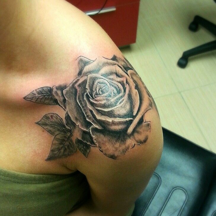 rose shoulder tattoo drawing - Google Search | Tats ...