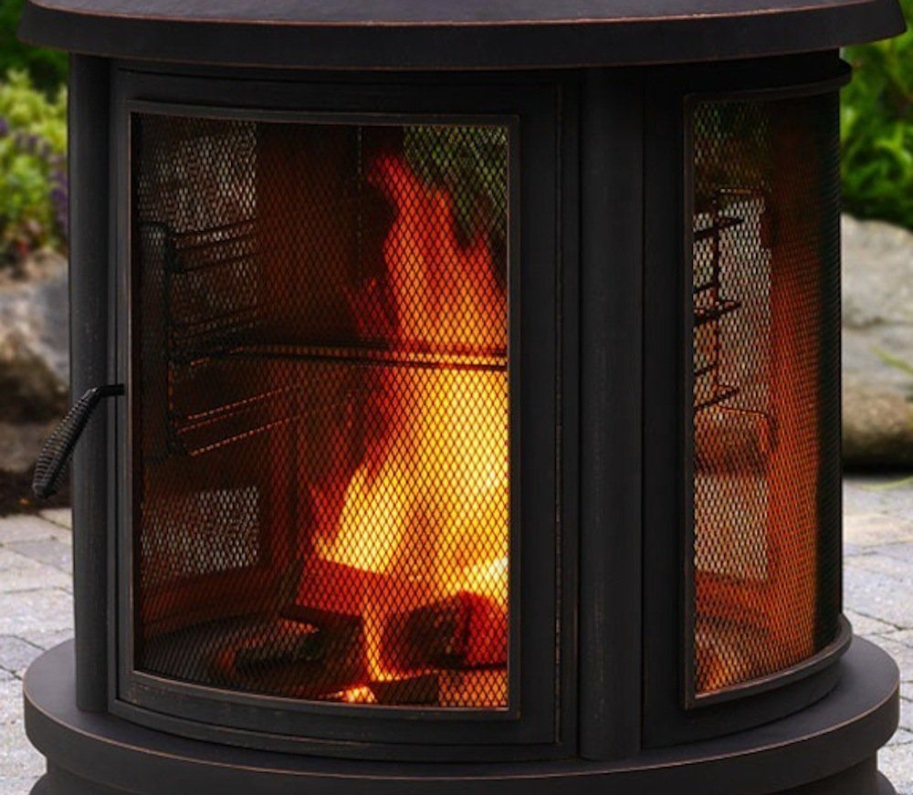 1 garden fire pit logs in a modern outdoor firepit brazier uk