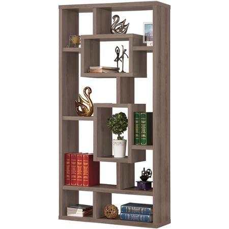 Coaster Weathered Grey Interlocking Bookcase - Walmart com