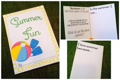 Speechie Freebies: Summer Foldable Minibook. Pinned by SOS Inc. Resources. Follow all our boards at pinterest.com/sostherapy/ for therapy resources.