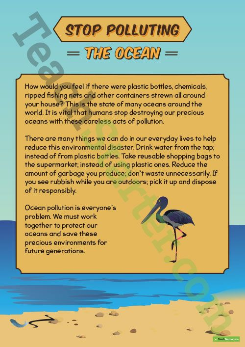 005 Sequencing Activity Stop Polluting The Ocean (Persuasive