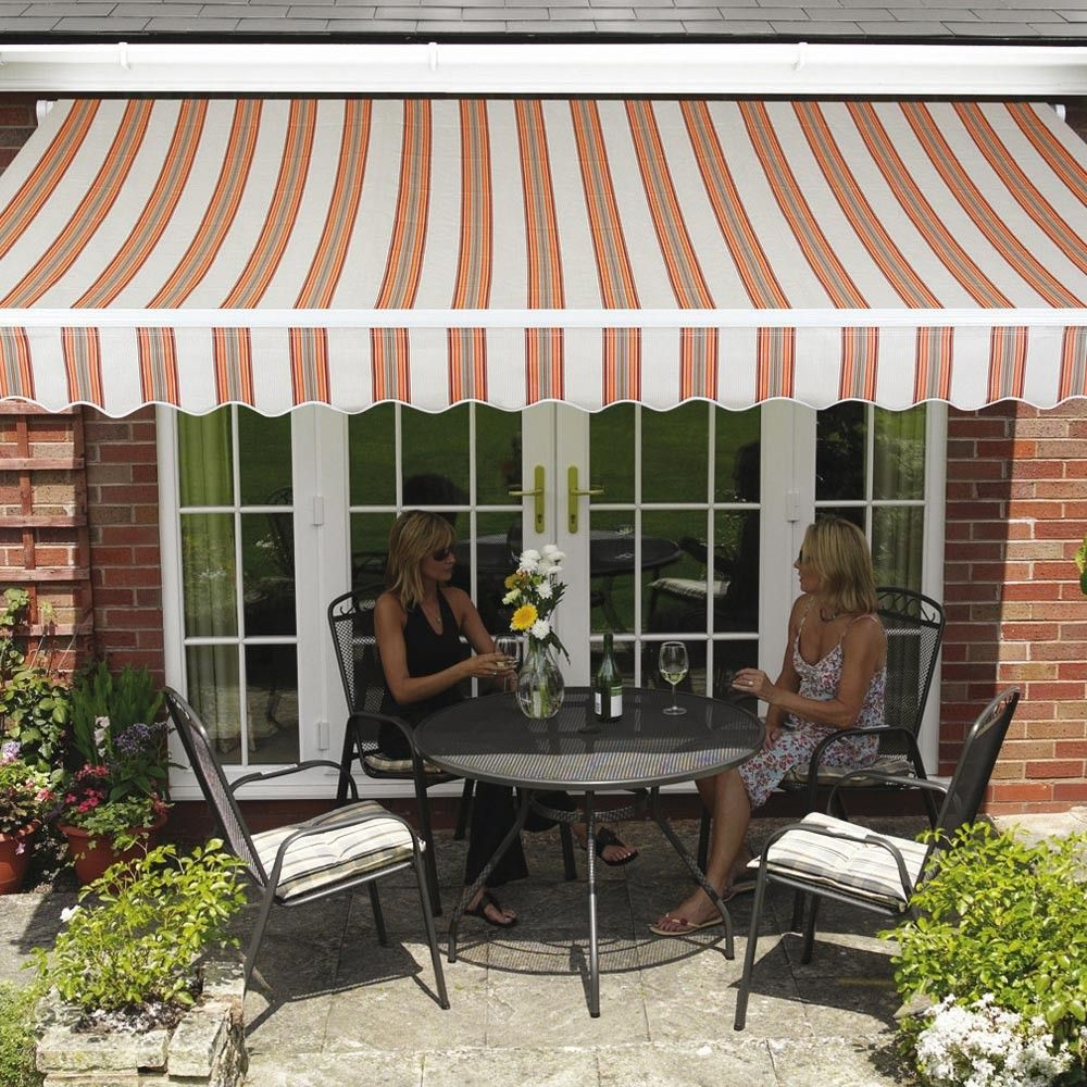 Create An Easy Attractive Shaded Area To Your Outdoor Area With This Easy To Install Retractable 3 5m X 2 5m Wall Mo Garden Canopy Outdoor Shade Patio Awning