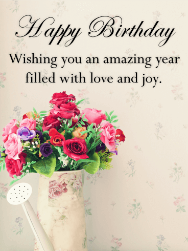 Send Free Vintage Flower Bouquet Happy Birthday Card To Loved Ones On Greeting Cards By Davia Its 100 And You Also Can Use Your Own