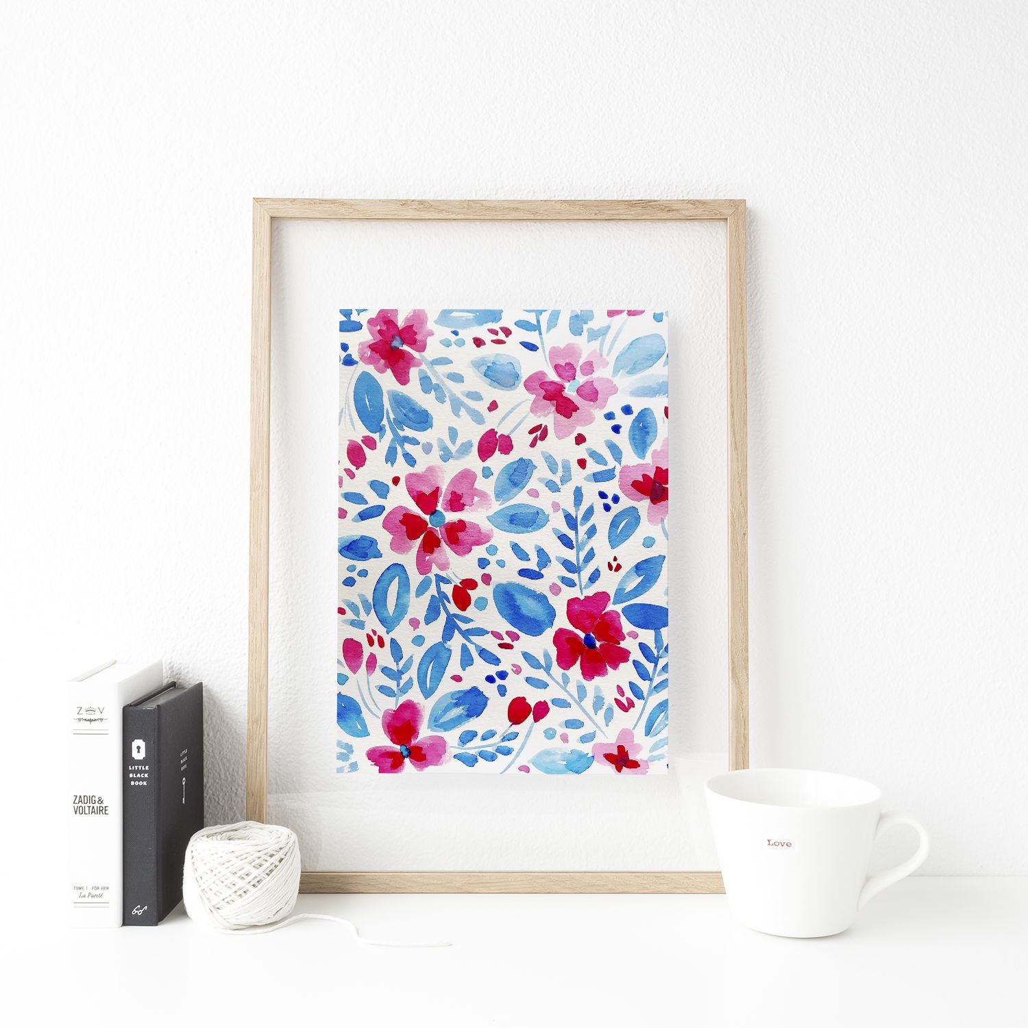 How To Paint Watercolor Florals In A Patriotic Color