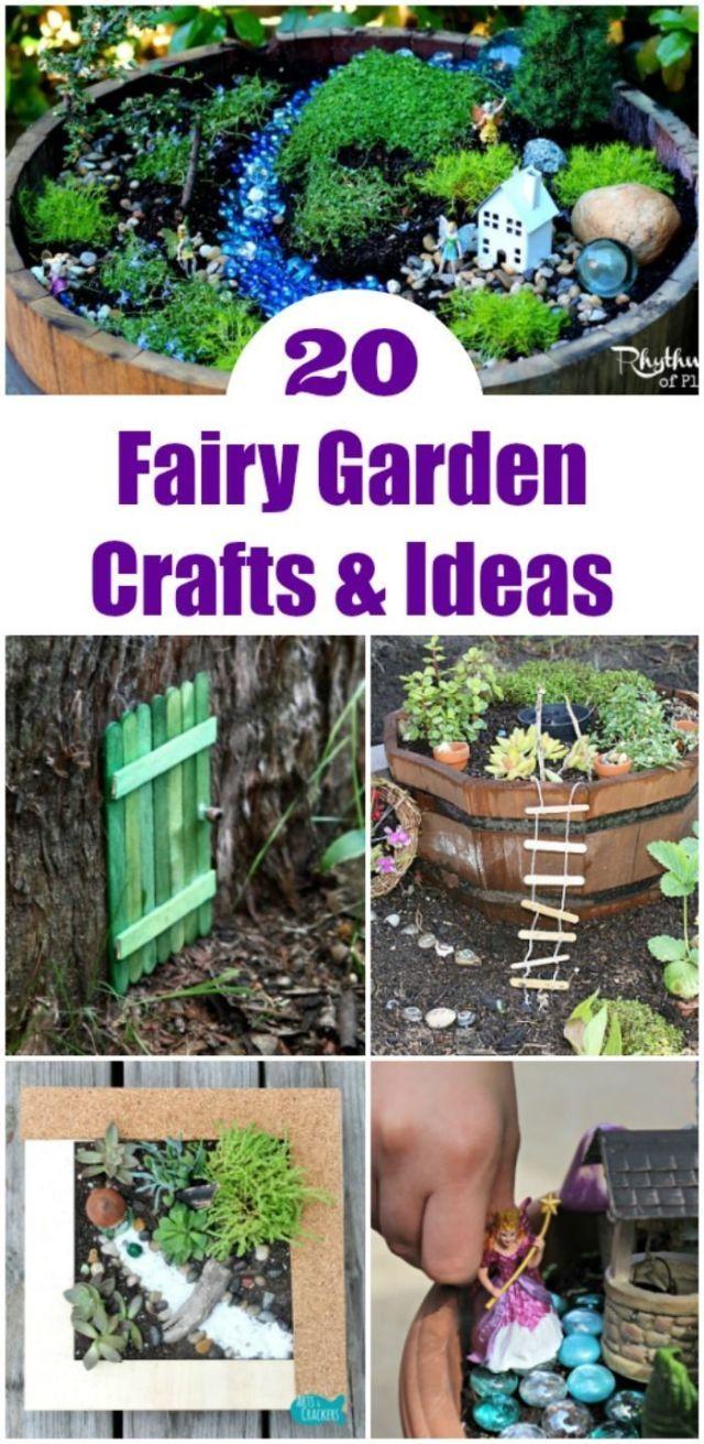 20 Fairy Play Mini Garden Ideas Fairy Garden Ideas Mini Play Fairy Garden Crafts Kids Fairy Garden Fairy Garden Diy