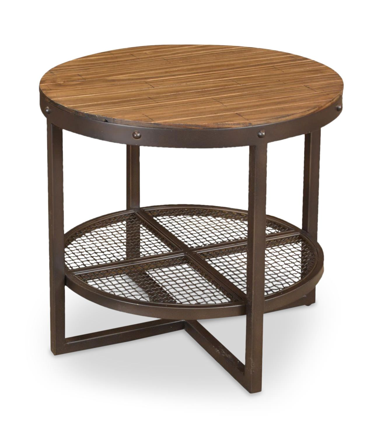 Lakewood Round End Table | HOM Furniture | Furniture Stores In Minneapolis  Minnesota U0026 Midwest