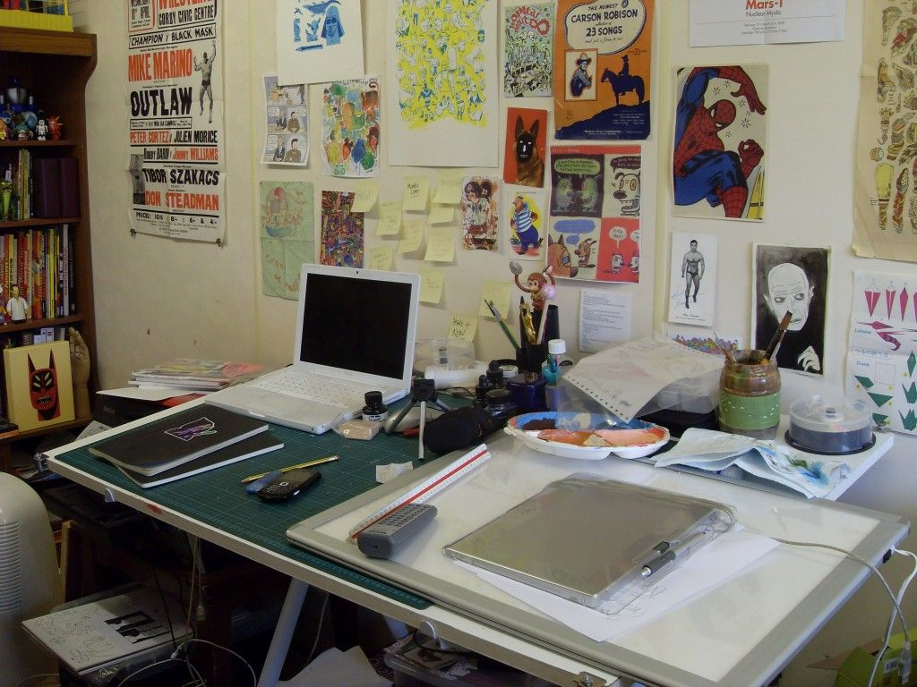 Illustration Studio Of Jack Teagle A More Realistic Roach To What My Office Will Look Like Toursstudio Setupdrawing Deskart