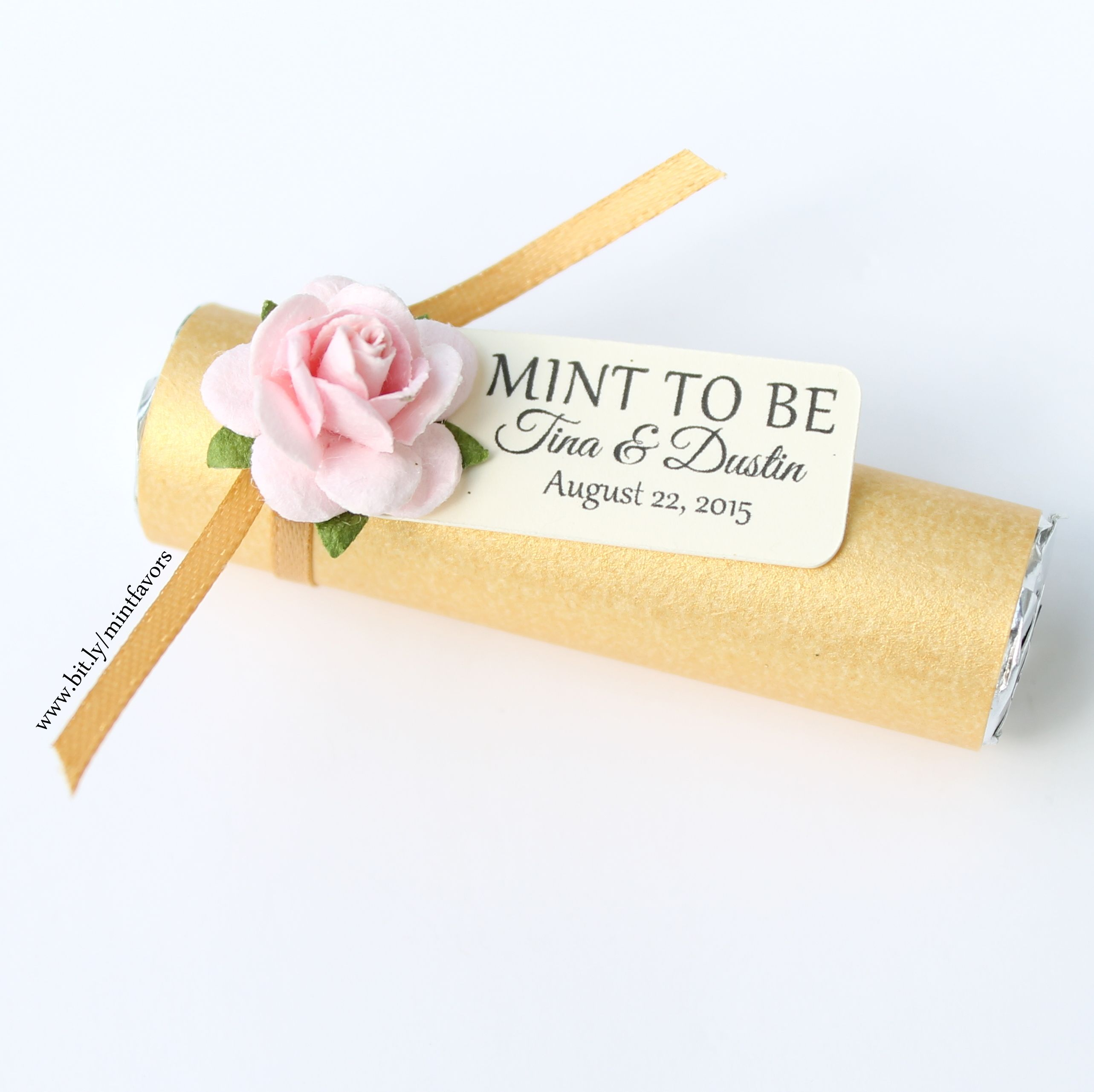Mint wedding favors with a personalized tag. Available in several ...