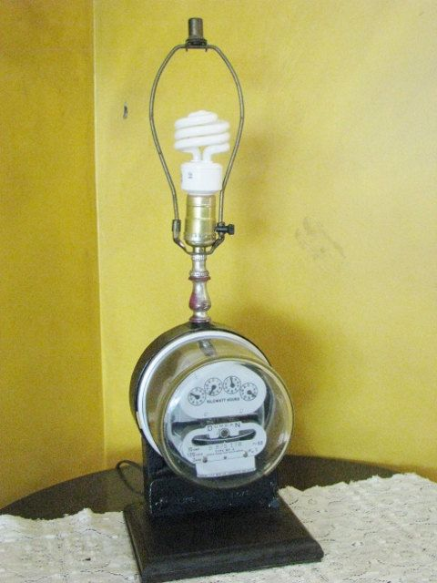 Electric Meter Lamp Duncan Meter RUNS When by AahhaFabricNVintage ...